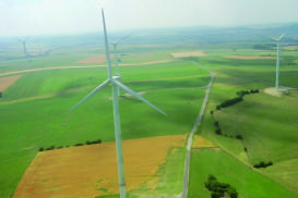 Wind park christening in Momerstroff, France